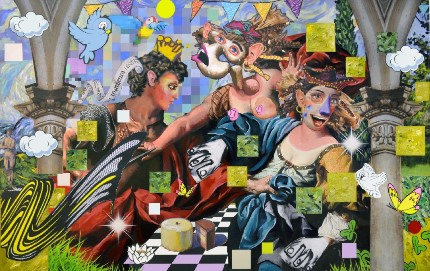 עבודה של אליסון צוקרמן מהתערוכה (באדיבות מוזיאון הרצליה לאמנות)